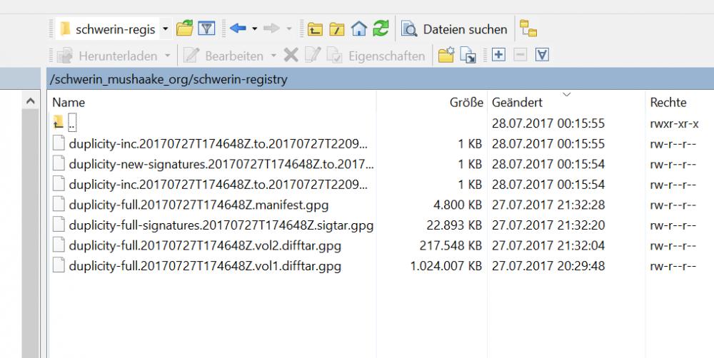 Backups mit Duplicity und Docker 6