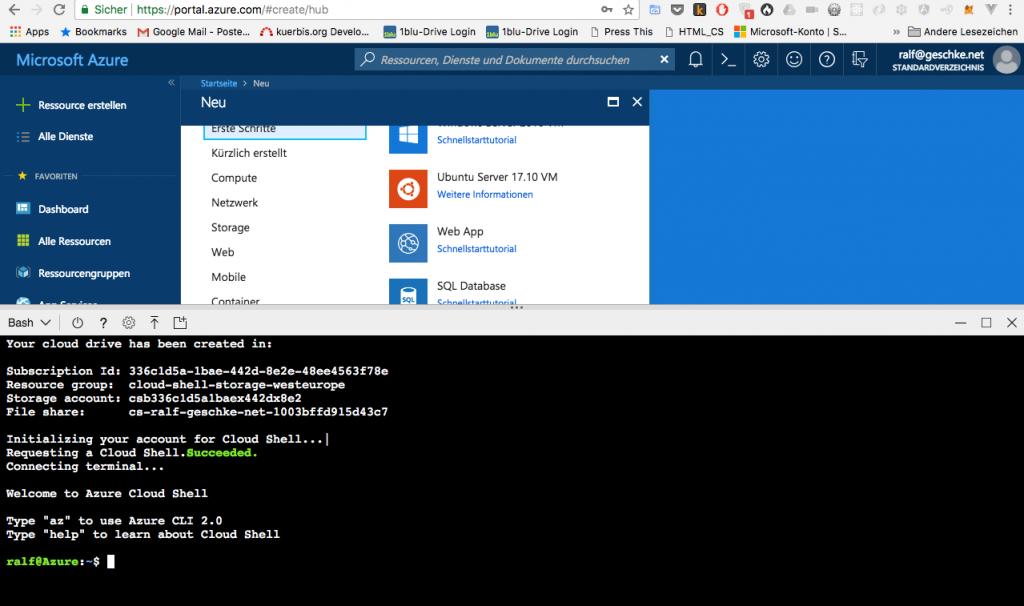 Microsoft Azure App Service: erster Test und Erfahrungen 1