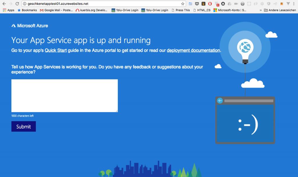 Microsoft Azure App Service: erster Test und Erfahrungen 5