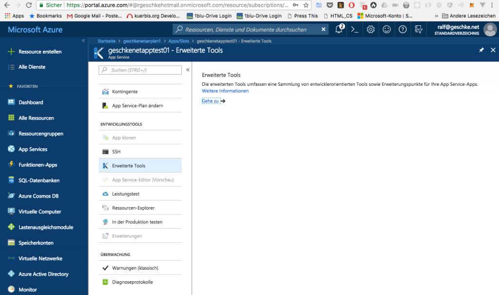 Microsoft Azure App Service: erster Test und Erfahrungen 10