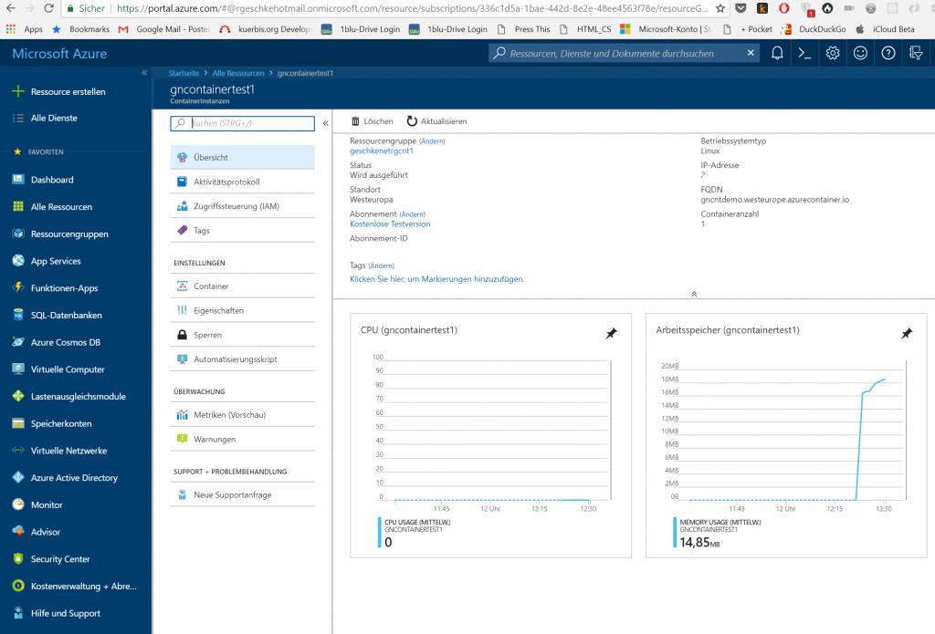 Microsoft Azure Container Instances: erste Eindrücke 1