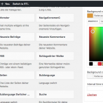 Integration des WordPress Color Pickers in die Widget-Admin-UI