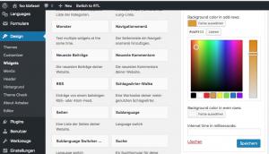 Integration des WordPress Color Pickers in die Widget-Admin-UI 1