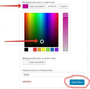 Integration des WordPress Color Pickers in die Widget-Admin-UI 8