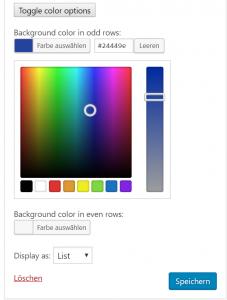 Integration des WordPress Color Pickers in die Widget-Admin-UI 5