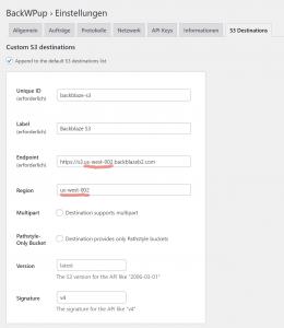 WordPress-Backups mit BackWPup auf Backblaze B2 (ergo S3-Speicher) 4